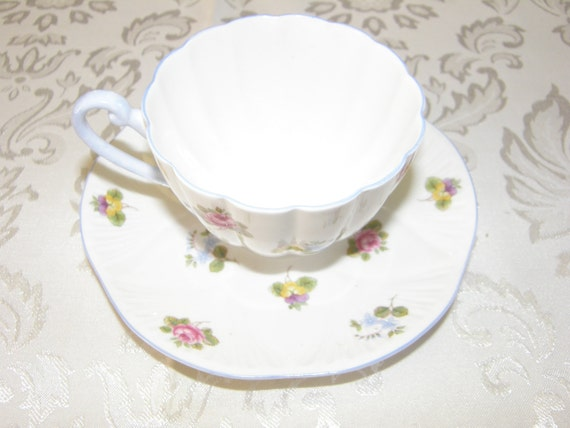 January Clearance Shelley Rose Pansy Forget Me Not Tea Cup Etsy