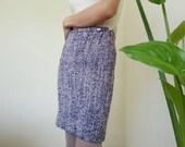 Vintage VERSUS White Purple Wool Mini Skirt XXS Pencil Skirt Womens Mohair Skirt Winter Skirt Simple Skirt Designer Skirt Short Skirt 24 quot