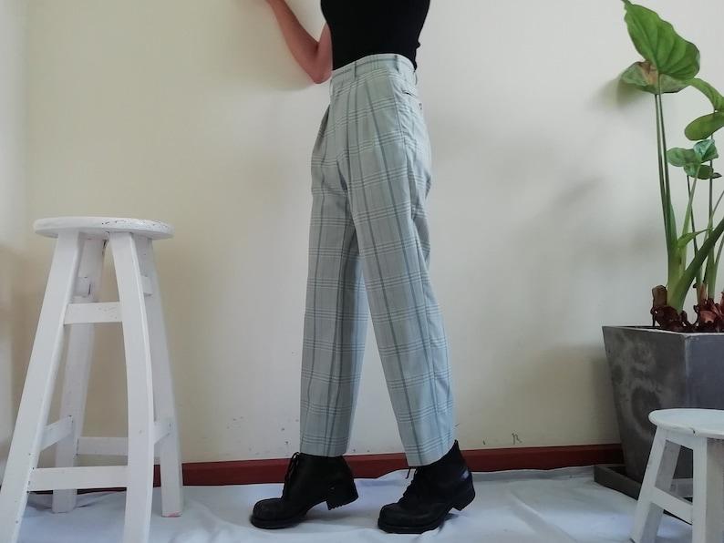 f10700848d6d Gray Plaid Pants Women Small S Vintage Gingham Trousers