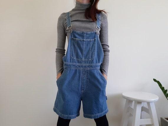 BILL BLASS Vintage Blue Denim Overalls Womens Over