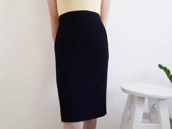 KARL LAGERFELD Vintage Black Pencil Skirt Women Wo