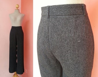 Long Black Pants Women | Vintage Pants Medium | Womens Pants Vintage | Black Trousers Pants | Retro Pants | Summer Pants | 29.5 Waist M