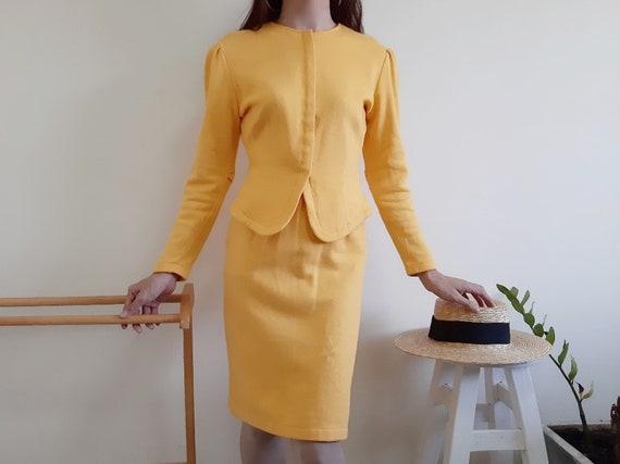 NORMA KAMALI Vintage Two Piece Skirt Set Women Yel