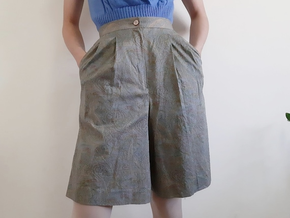 BROOKS BROTHERS Vintage Green High Waisted Shorts