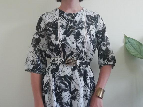 8db5f779e156 Black White Dress 80s Clothing Women Vintage Japanese Dress