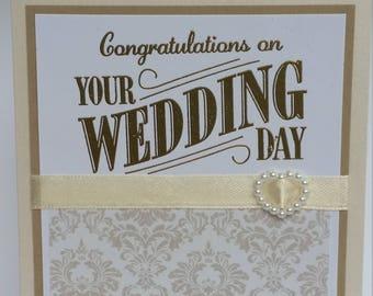 Elegant Congratulations on your Wedding Day handmade card