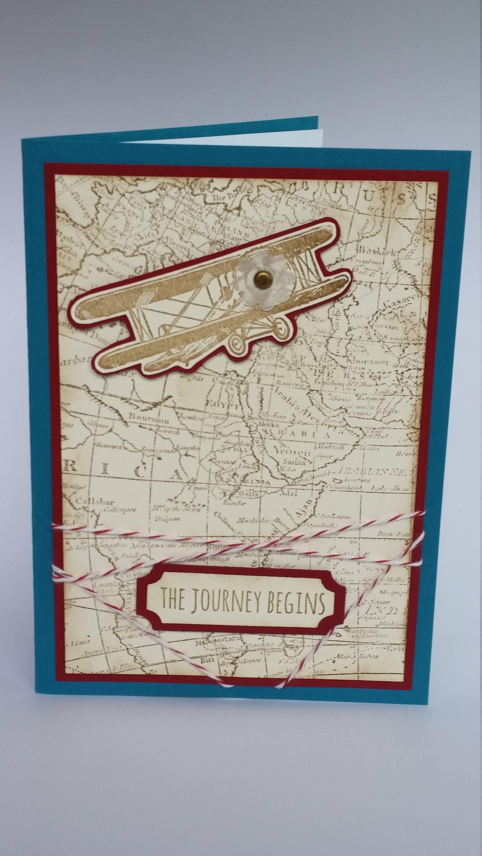 Bon Voyage Card Handmade Greeting Card Made In Australia Etsy