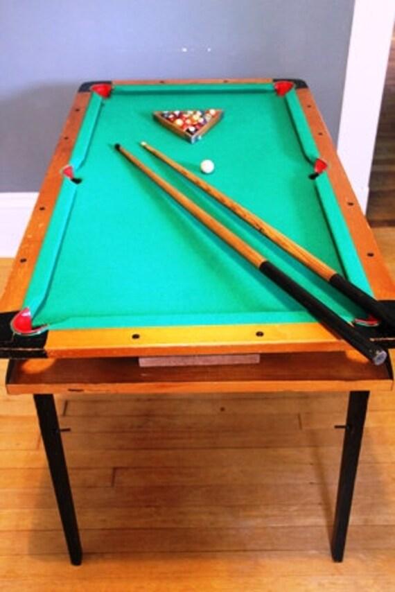 Pool Table Billiards Miniature Likely Burrowes Circa S Etsy - Minnesota fats mini pool table
