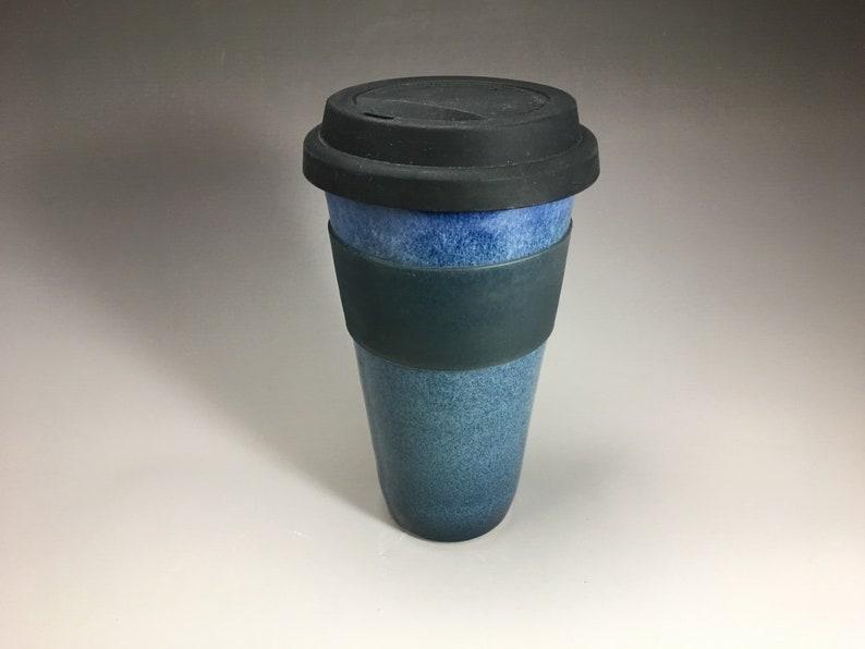 Handmade Travel Mug with Silicone lid