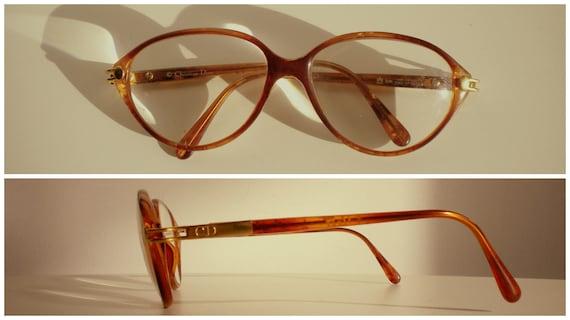 6e6a61af2e DIOR años 80 unisex gafas marco Amber Brown oval gota de | Etsy