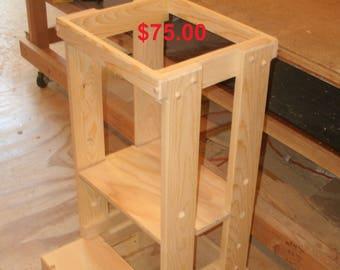 kitchen helper stool, adjustable tot tower, toddler stool, children step stool, little helper tower, kitchen helper