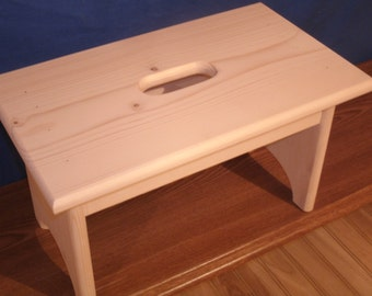 Enjoyable Wood Step Stool Unfinished Pine 16L X 9W X Etsy Alphanode Cool Chair Designs And Ideas Alphanodeonline