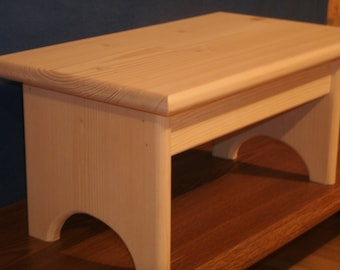 Awe Inspiring Wood Step Stool Unfinished Pine 16L X 9W X Etsy Alphanode Cool Chair Designs And Ideas Alphanodeonline