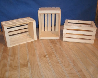 10 small wooden crates, small storage crate, storage crate, wooden crate,woo crate, wooden storage crate, slatted crate