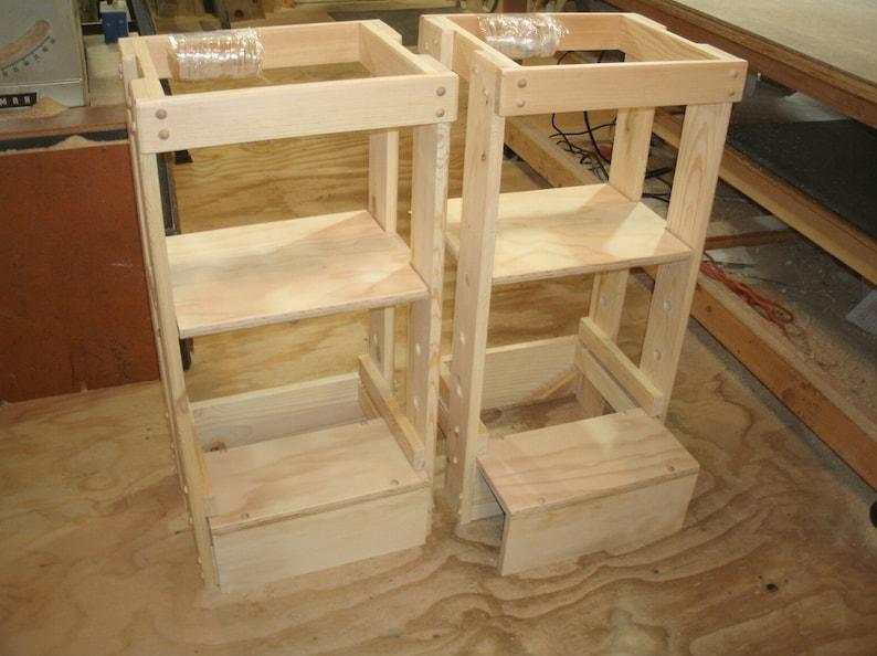 Beau Kitchen Helper Stool, Sliding Bottom Step, Adjustable Tot Tower, Toddler  Stool, Children Step Stool, Little Helper Tower, Kitchen Helper