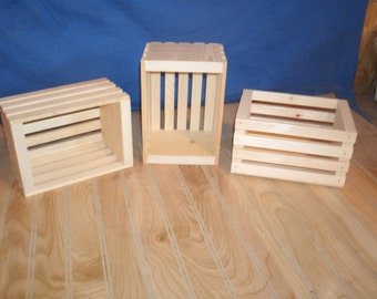 10 small wood crates, unfinished wood crates, wooden crate, wooden crates, wood box