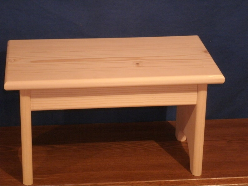 Super Wood Step Stool Wooden Stool Rustic Wooden Stool Unfinished Pine 9 Wood Bench Step Stool Wooden Foot Stool Short Links Chair Design For Home Short Linksinfo