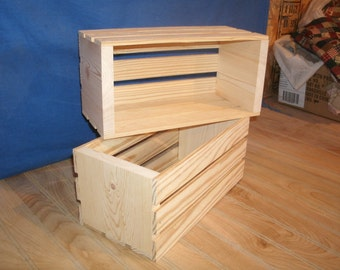 wooden crate, medium wood crate, wood crate, wooden storage crate, crate