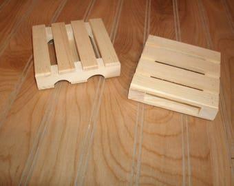 set of 4 wood coasters, beverage coaster, pallet coaster, wood pallet , wooden pallet coaster, drink coaster