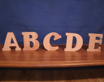 """3"""" wooden letters, wood letters, 1/2"""" thick style #2 nursery letters, free standing letters"""