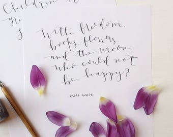 Custom Page     Calligraphy     Made-to-Order