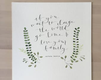"""Mother Theresa Quote  