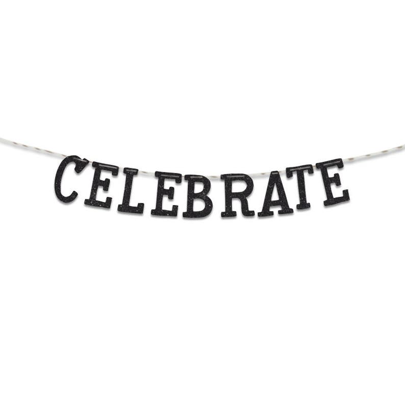 UGB0099 Party Decoration Party Banner Celebrate Glitter Banner
