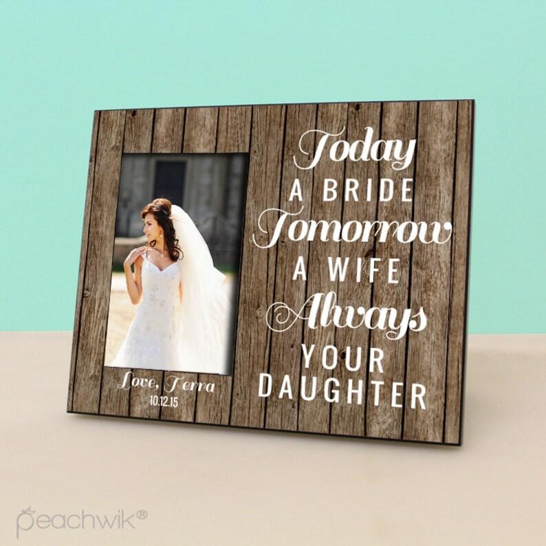 d3970edf4e17 Parents Wedding GIft Today a Bride Tomorrow a Wife Always