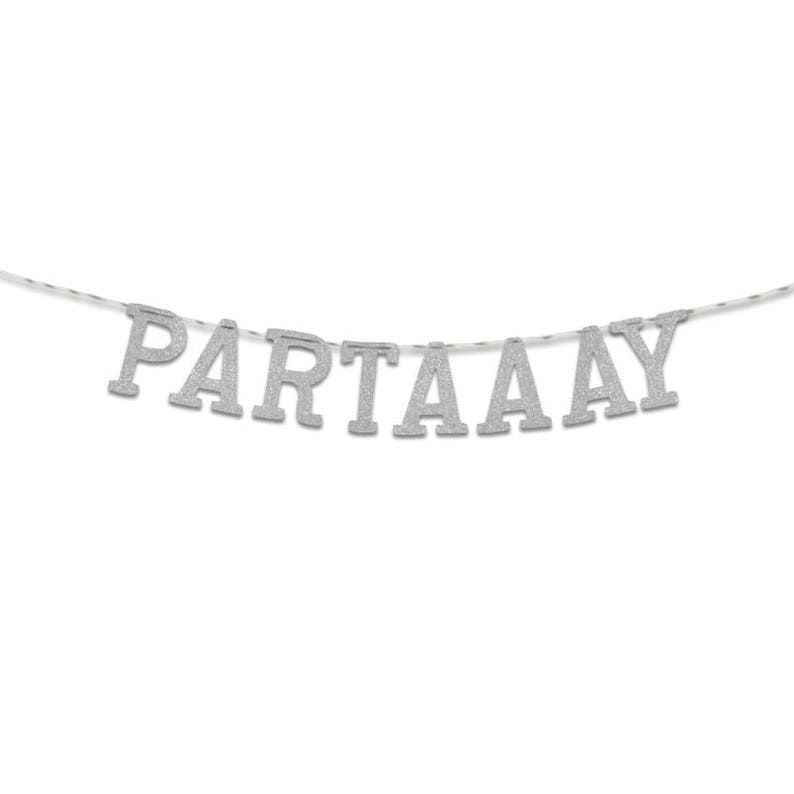 Party Decoration UGB0117 Party Banner Partaaay Glitter Banner