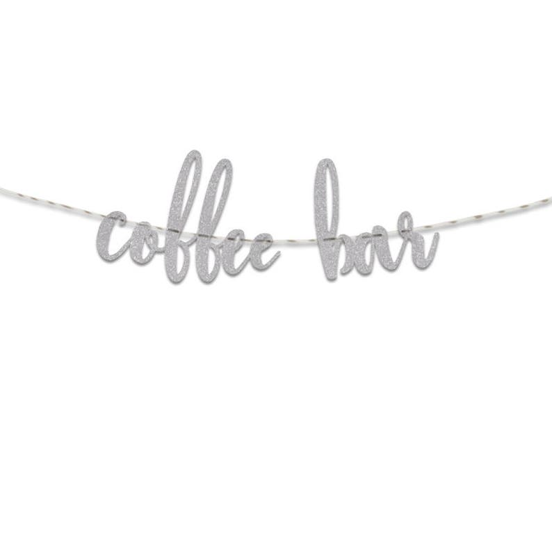 Wedding UGB0153 Party Banner Coffee Bar Glitter Banner Party Decoration