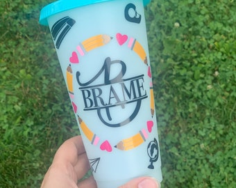 Color Changing Teacher Tumbler//Custom Cup