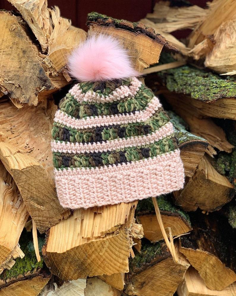 Camo Beanie//Crochet Camo  Color Beanie image 0