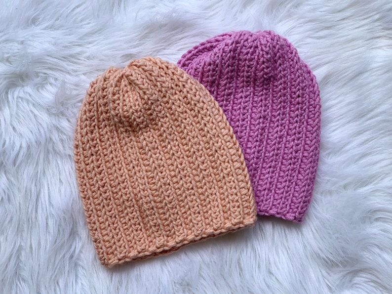 Chunky Ribbed Beanie//Crochet Ribbed Beanie image 0