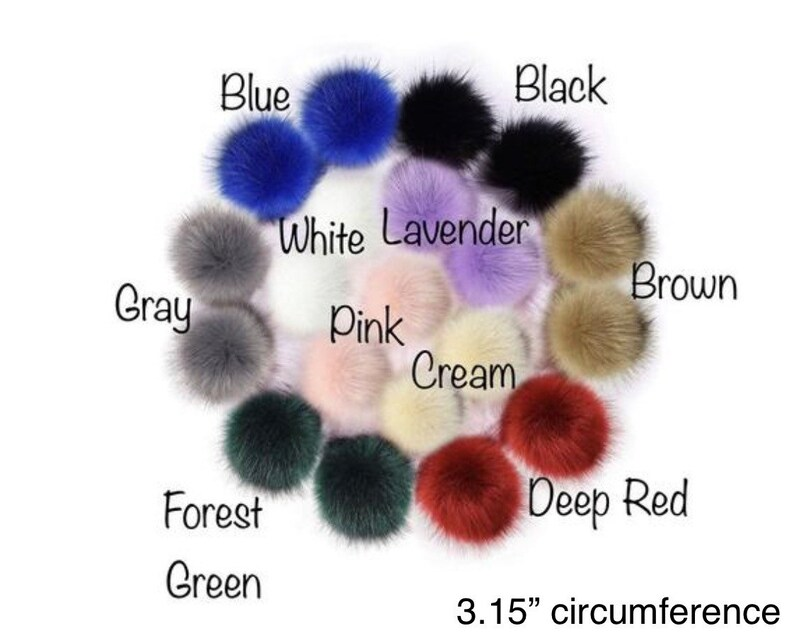 Add-On Fur Pom-Pom with hat purchase only image 0