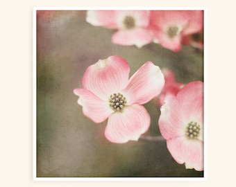 Pink Dogwood Tree - Flower Picture - Nature Print - Baby Girl Nursery Art - Romantic Bedroom Wall Decor - Floral Wall Art - Pink Flowers