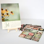2019 Desk Calendar With or Without Mini Easel - 5x7 Desktop Calendar Gift - Teacher Gift - Flower Prints - Photography Gift - Gifts Under 30