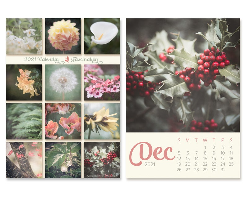2021 Desk Calendar with Nature Photos 5x7 Mini Easel image 0