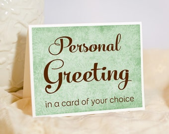 Personalized Greeting - Floral Photo Greeting Card - Custom Photo Note Card - Compose your own message