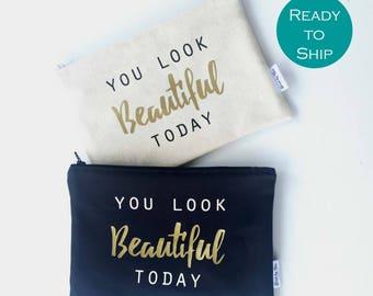 Makeup Bridesmaid Gifts - Makeup Bag Wedding - Personalized - Birthday Gift Makeup Bag -Cosmetics Bridesmaid Gifts