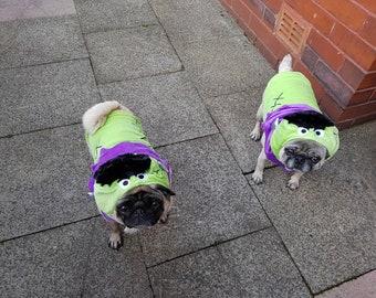 LARGE Frankenstein pet dog Halloween costume soft velour plush