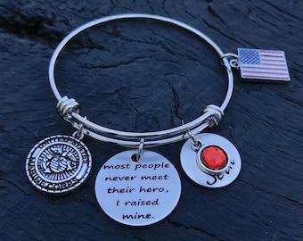 60c2a76025b Most People Never Meet Their Hero I Raised Mine Bracelet | Military Mom |  Air Force Mom | Army Mom | Coast Guard Mom | Marine Mom | Navy Mom