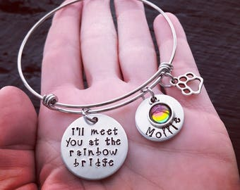 I'll Meet You At The Rainbow Bridge Bracelet © | Pet Memorial Jewelry | Pet Memorial Bracelet | Pet Sympathy Gift | Pet Sympathy Jewelry