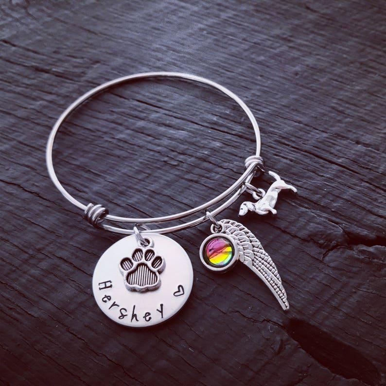 Dachshund Memorial Jewelry Pet Memorial Jewelry Rainbow Bridge Jewelry Pet Sympathy Gift Dachshund Memorial Bracelet Pet Keepsake