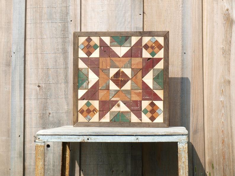 CUSTOM barn quilt block salvaged wood barn quilt geometric ...