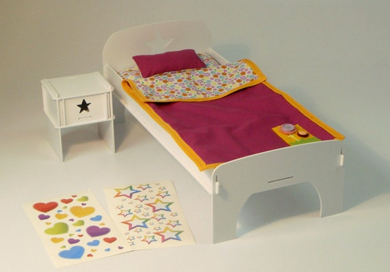 Doll Bed Nightstand Kit American Girl Doll Furniture 18 Inches Plastic Gift Free Shipping