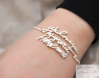 Handwriting Jewelry • Handwriting Bracelet • Signature Bracelet • Keepsake Bracelet • Memento Gift • Mother Gift • MOTHER'S GIFT • BH01
