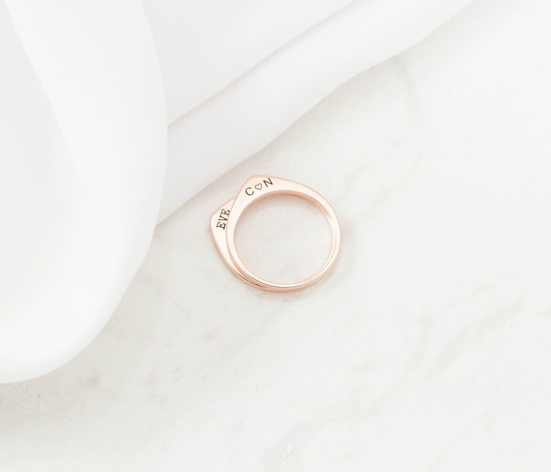 Custom TearDrop Ring \u2022 Personalized Stacking Ring \u2022 Custom Minimalist Ring \u2022 Memorial TearDrop Ring \u2022 Initial Ring \u2022 MOTHER/'S GIFT \u2022 RM36F41
