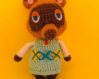 Tom Nook Inspired Animal Crossing Crochet Amigurumi Plushie