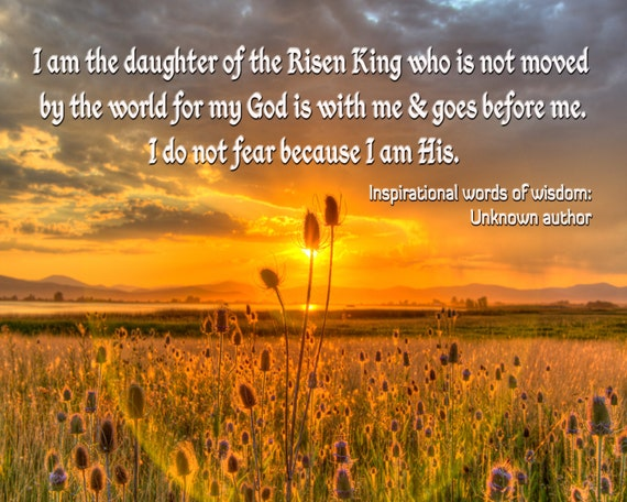 Daughter Of The Risen King Quote On Sunset Image Instant Etsy