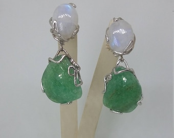 Earrings with Labradorite and Crisopasio